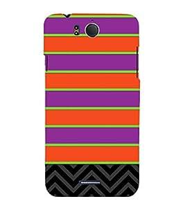 Horizontal Pattern Design 3D Hard Polycarbonate Designer Back Case Cover for InFocus M530