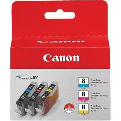 Canon 0621B016 CLI-8 3 Pack C/M/Y Value Pack (Canon Color Ink 8 compare prices)