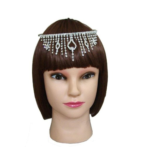 Belly Dance Crystal Dangling Pattern Curtain Tiara