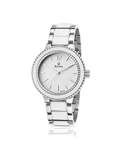Bulova Women's 98L172 Sport Silver/White Stainless Steel Watch As You See