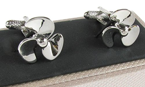 Silver-Coloured-Ships-Propeller-Cufflinks-Presented-in-Onyx-Art-Gift-Box