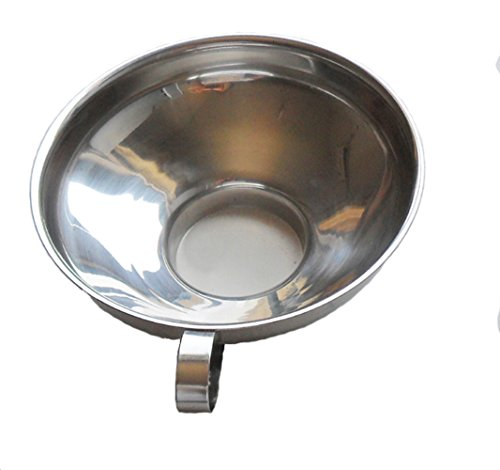 Stainless Steel Canning Jar Wide-Mouth Funnel With Handle Kitchen Tool