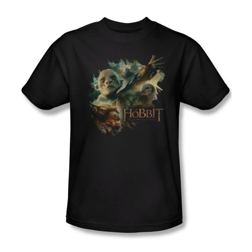 The Hobbit Desolation of Smaug Movie Orcs & Wargs Baddies Adult T-Shirt Tee