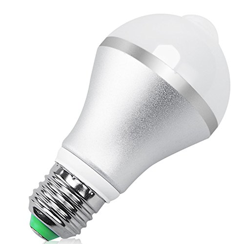 QPAU E27 7W 14 LED Light Bulb with PIR Motion Sensor, Warm White (Long Distance Temperature Sensor compare prices)