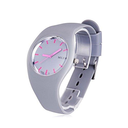 Women Silicone Band Sport Watch Fashion Brand MILER Colorful Quartz Bracelets Watches Relogio Feminino.