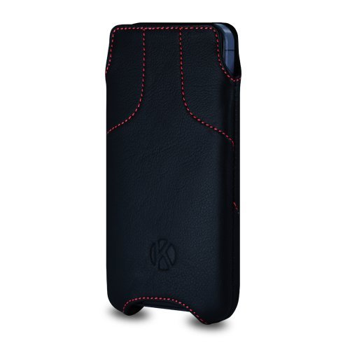 Special Sale iPhone 5S Case - Kouros Torque - Genuine Italian Leather Case - Pouch Cover (Black)