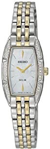 Seiko Women's SUP152 Two Tone Stainless Steel Analog Mother-Of-Pearl Dial Watch