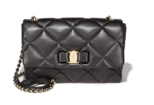 2cf9ff1e2e0 Salvatore Ferragamo Women s Medium Quilted Vara Flap Bag - SHOP ...