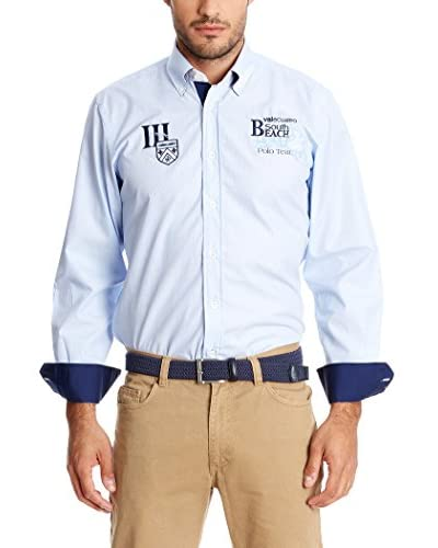 Valecuatro Camicia Uomo [Celeste]