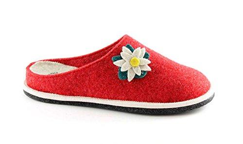GRUNLAND GIES CI1237 rosso ciabatte pantofole donna suola feltro 40