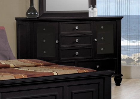 Coaster Home Furnishings Country Dresser, Black front-155619