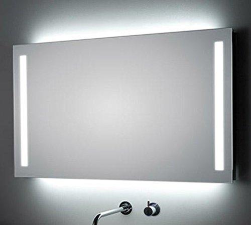 Koh-I-Noor 45929 Specchiera 120 x 80 cm Retroilluminata e Laterale, Specchio