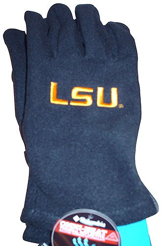 NCAA Columbia LSU Tigers Collegiate Thermarator Performance Gloves - Black (Large/X-Large) at Amazon.com