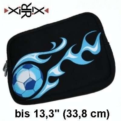 """XiRRiX Premium Neopren Netbook Mini Notebooktasche 13,3"""" Universal - Sleeve - Größe bis 33,8 cm (13,3 Zoll) - Farbe: schwarz. Design: Fussball (bulk)"""
