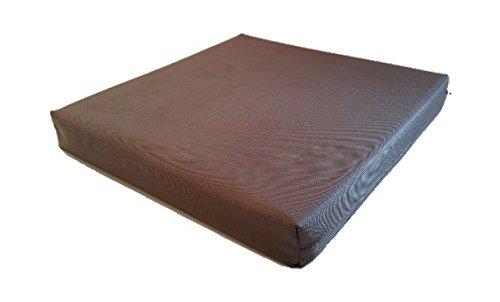Marrón impermeable, silla Cojín de exterior,-Fregadero para jardín, terraza, balcón, gomaespuma poliéster, marrón, 50 x 120 x 5 cm