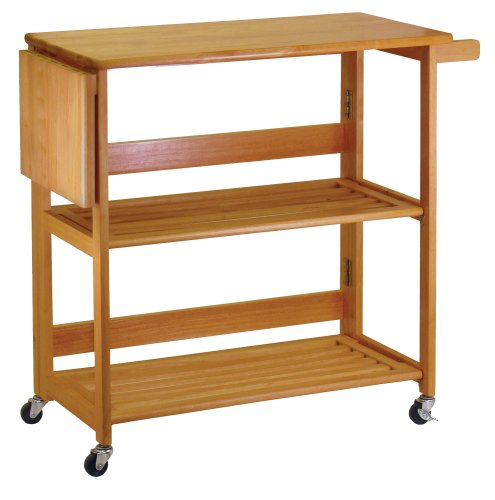 Cheap Winsome Light Oak Foldable Kitchen Cart (B000GIUNSA)