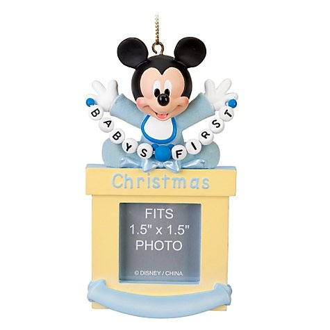 Disney Baby Boy First Mickey Mouse Photo Frame Ornament - 1