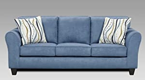 Cool Roundhill Furniture Microfiber Sofa With 2 Pillows Patriot Short Links Chair Design For Home Short Linksinfo