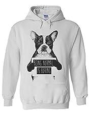 Being Normal Is Boring Funny Dog Novelty White Men Women Unisex Hooded Sweatshirt Hoodie