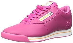 Reebok Women's Princess Casual Shoe, Cond Pink/White/Maximum Orange, 9 M US