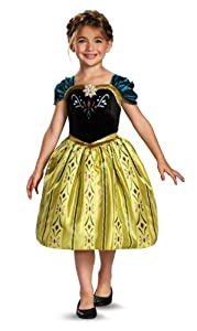 Disguise Disney's Frozen Anna Coronation Gown Classic Girls Costume, Small/4-6x