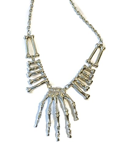 Bones and Skeleton Hand Costume Necklace