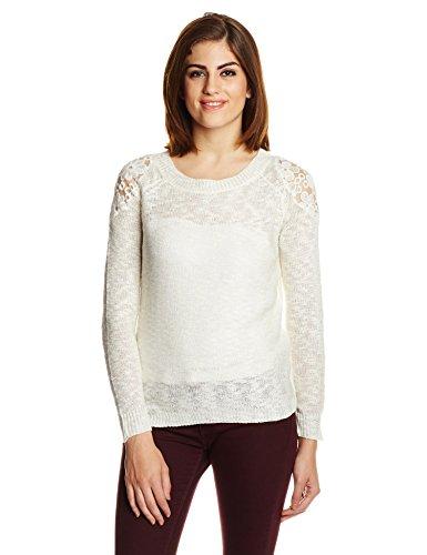 Jealous Club 21 Women's Plain T-Shirt (1cz00301_Off White_X-Large)