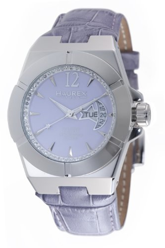 Haurex Italy Women's 8A340DL1 Yacht Moon and Star Lilac Dial Watch