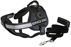 Dean & Tyler 25 by 34-Inch Service Dog Harness with Padded Puppy Leash, Small