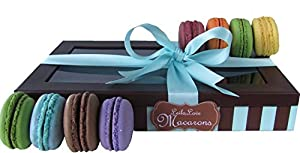 Leilalove Macarons 8 Quantities - up to eight Flavors. Flat Box- We Already Gift Wrapped it for you