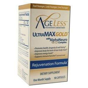 Ageless Foundation Laboratories, Ultramax Gold With Alphaneuro Complex, 90 Capsules