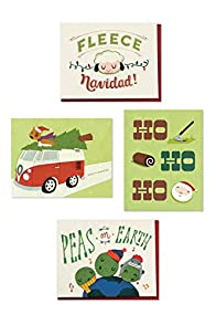 Good Paper Variety 4-pack Fair Trade Recycled Christmas Greeting Cards
