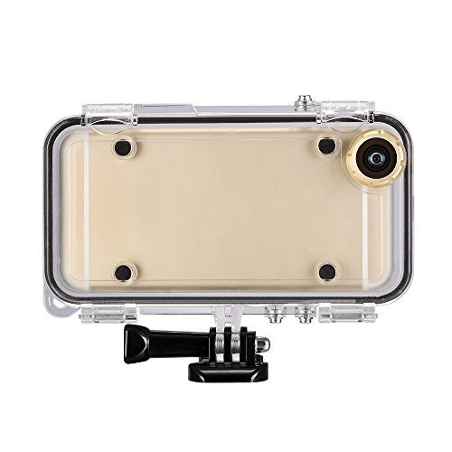Extreme sports Waterproof Case for iPhone 6, 6s with 170°Wide Angle Lens Compatible with GoPro Accessories in Cycle, Water Sports, Skating, Snow Sports, Skydiving, Climbing (Gold) [並行輸入品]