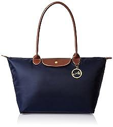Alessia74 Women's Handbag Combo with Wallet (Navy) (TY022K)