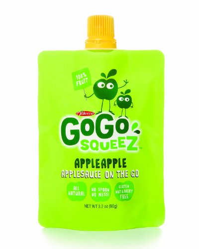 GoGo Squeez appleapple Applesauce on the Go 3 2 Ounce Pouches Pack of 48