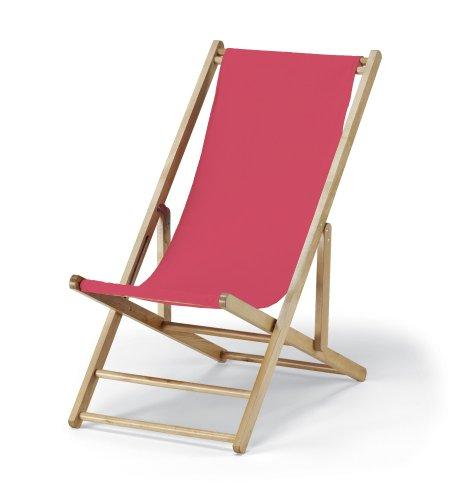 Telescope Casual Cabana Beach Folding Chair, Hot Pink front-579815