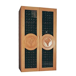 Vinotemp VINO-700G 440 Bottle Double Door Wine Cabinet with Glass