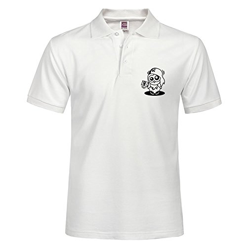 Men Performance Polo Shirt Breathable Short Sleeve Tee Owl Willis Available Clothing: Pirate Outfit Specail Style