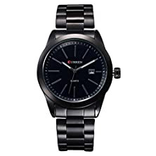 buy Gotd Curren Men Luxury Date Stainless Steel Band Quartz Calendar Wrist Watch Watches (Black )