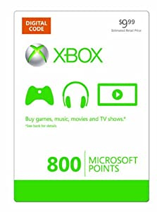 Xbox LIVE 800 Microsoft Points [Online Game Code]