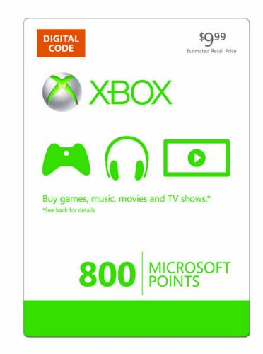 Xbox Live 800 Microsoft Points [online Game Code] Picture