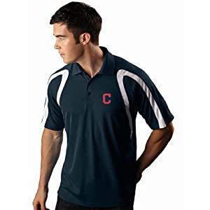 Cleveland Indians Point Polo Shirt (Team Color) by Antigua