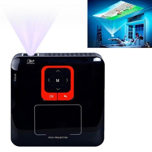 Koho Kp100 Intelligent Wireless Wifi Hd 1080P Led Mini Projector For Business / Home Use(Black)