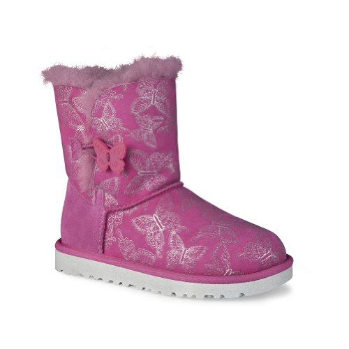 UGG Kids' Bailey Button Bfly Tod/P (Raspberry Sorbet 6.0 M)