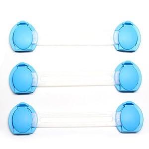 SODIAL(R) Paquete de 3 Cierres de Puerta de Armario Frigorifico Cajon de Seguridad para Ninos Bebes en BebeHogar.com