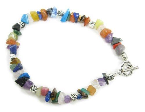 AM4389 – Multi gemstone chip bead bracelet – unique by Dragonheart – 20cm approx
