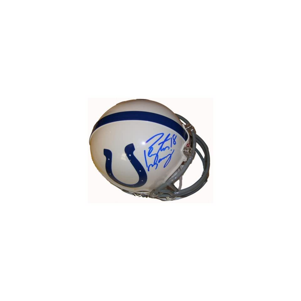 Peyton Manning Signed Indianapolis Colts Mini Helmet
