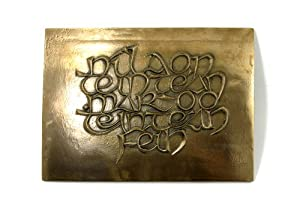 No Fireside Like Own Fireside Irish Blessing Bronze Plaque