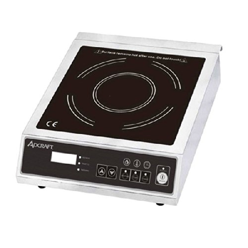 Adcraft Countertop Stainless Steel 170 Minute Timer Induction Cooker, 120 Volts -- 1 each.