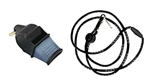 Fox 40 Sonik Blast CMG Whistle with Lanyard, Black